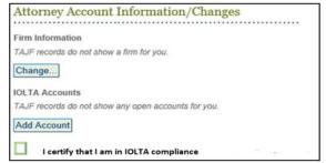 TAJF-IOLTA Compliance